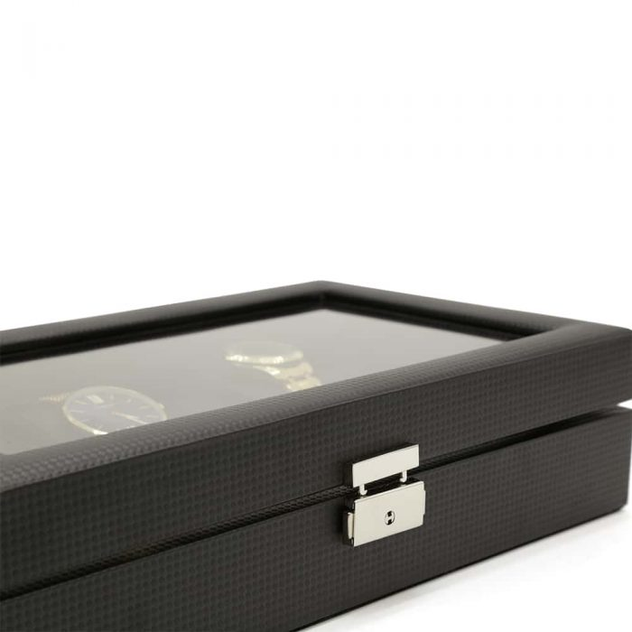 carbon-fibre-patterned-12-slot-watch-box-6