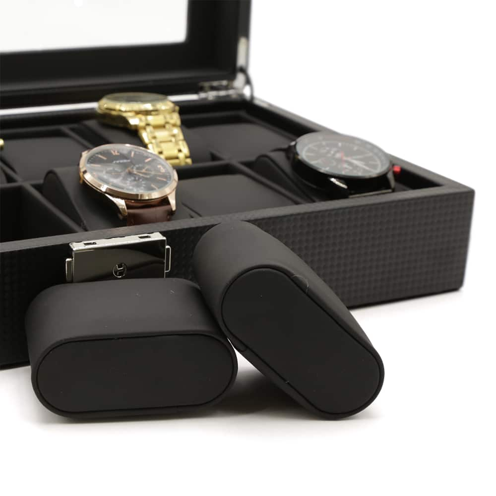 carbon-fibre-patterned-12-slot-watch-box-4