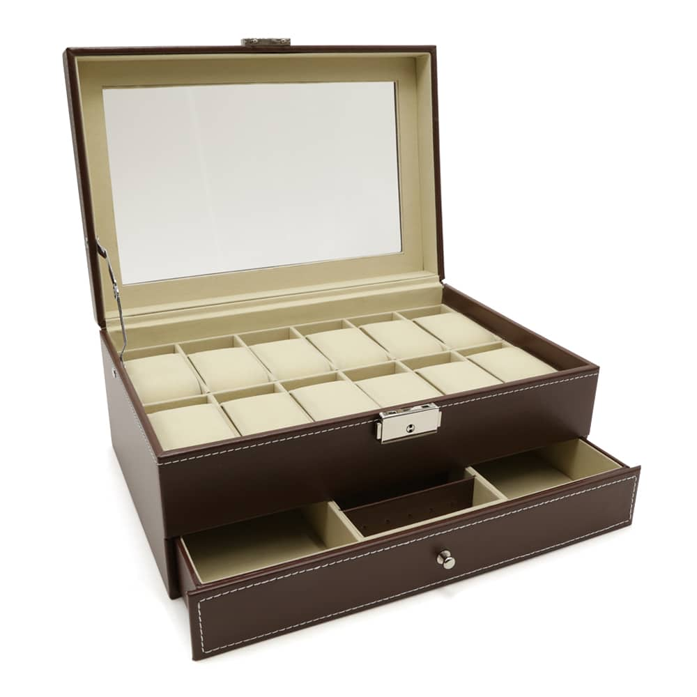 2-level-12-slot-watch-box-brown-2
