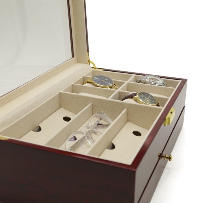 maple-mahogany-2-level-watch-box-organiser-3