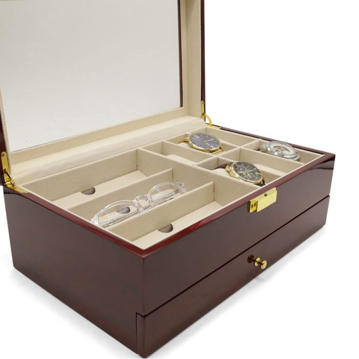 maple-mahogany-2-level-watch-box-organiser-4