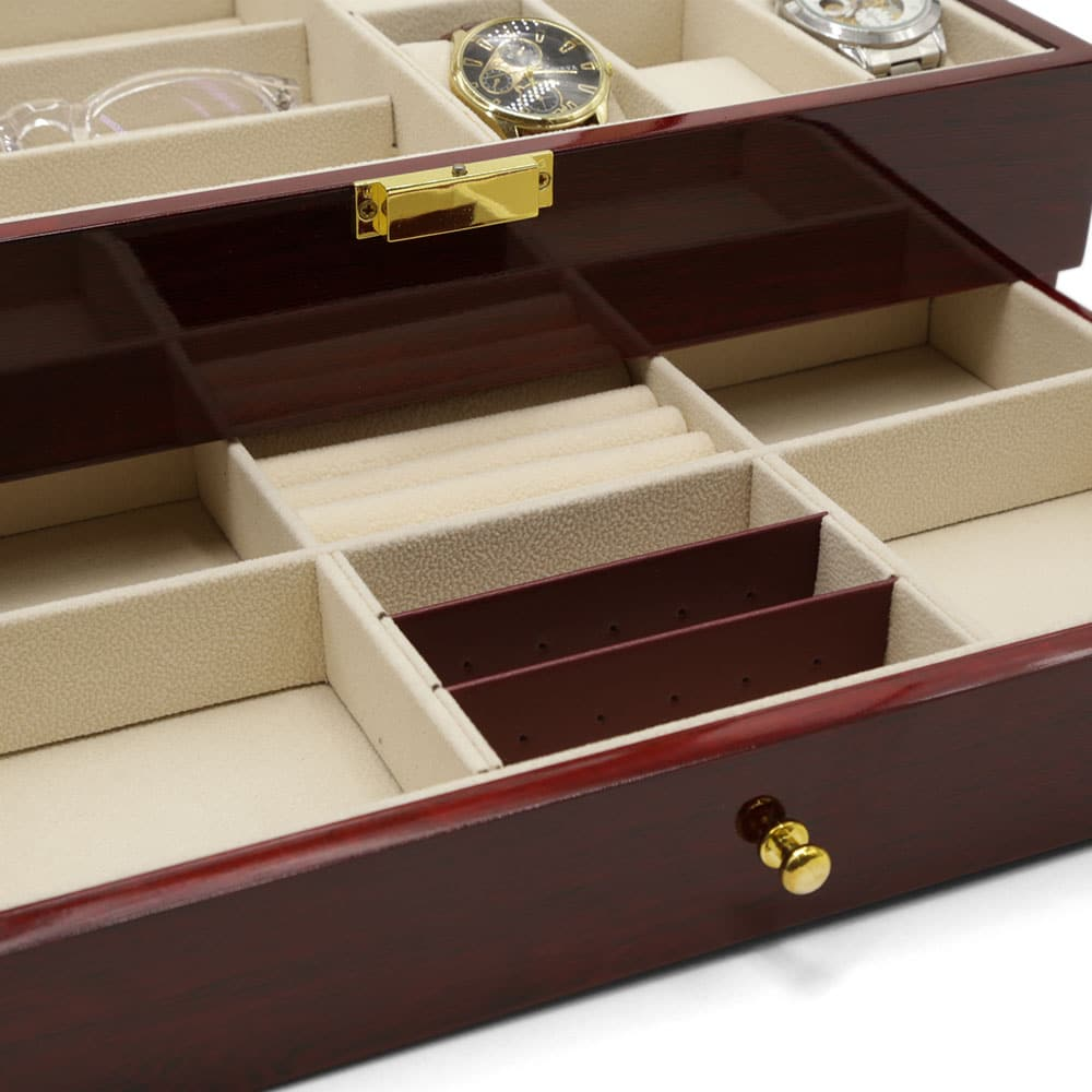 maple-mahogany-2-level-watch-box-organiser-5