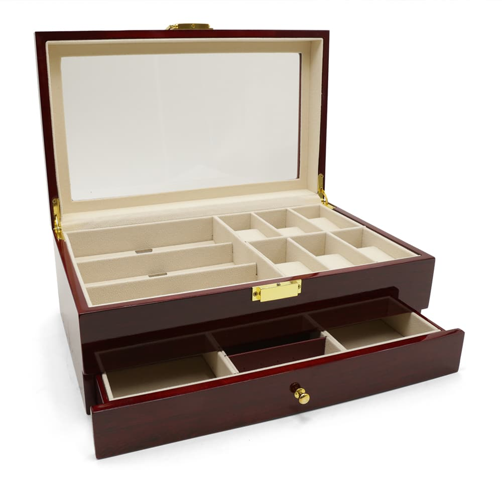 maple-mahogany-2-level-watch-box-organiser-2