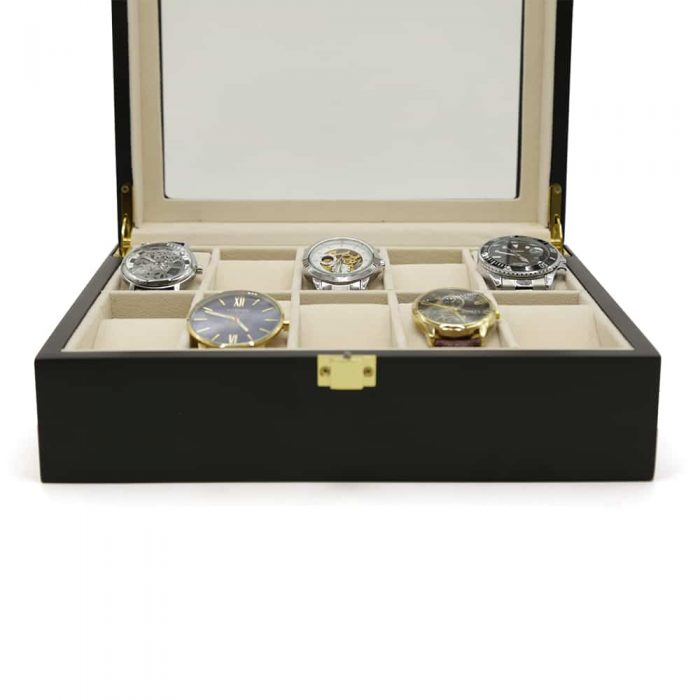 black-wooden-10-slot-watch-box-3