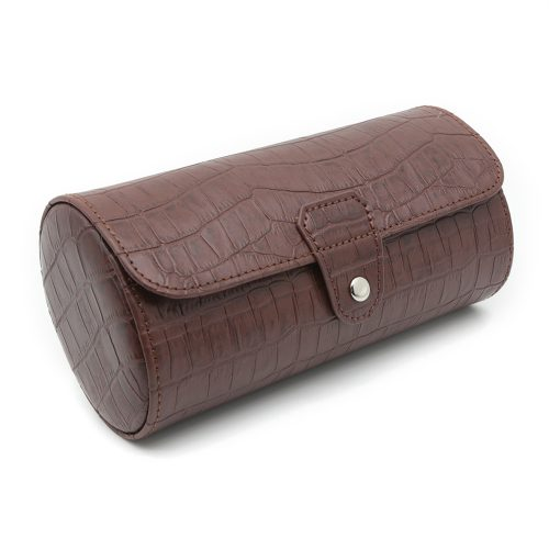 mahogany-alligator-3-slot-watch-roll-1
