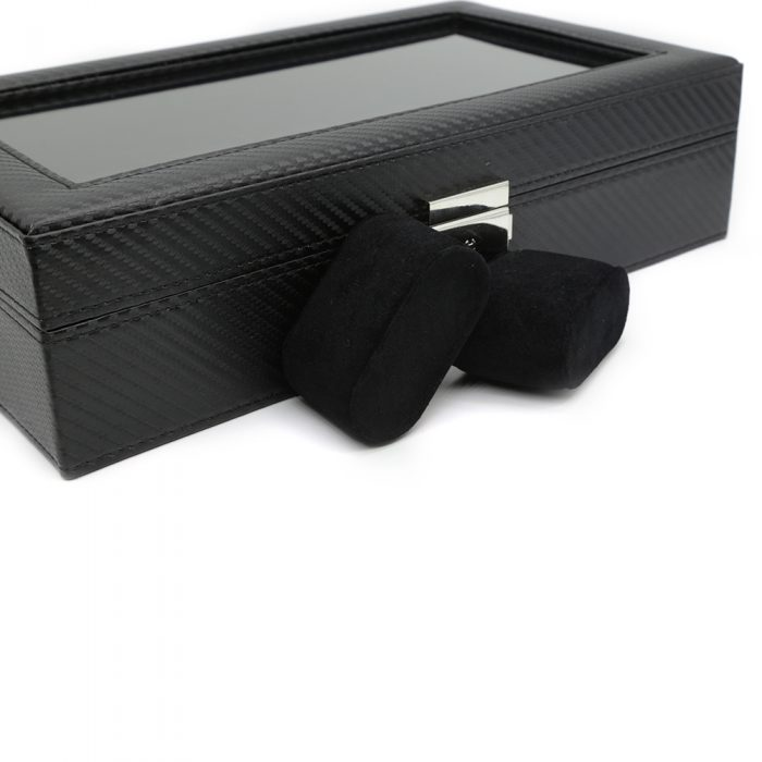 black-carbon-fibre-10-slot-watch-box-4