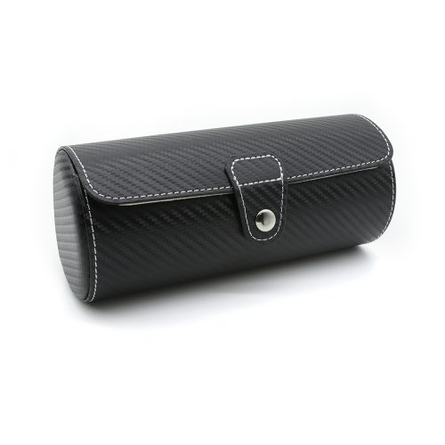 black-carbon-fibre-3-slot-watch-roll-1