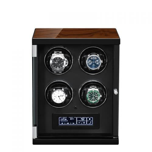 Classic Black 4-Slot Automatic Watch Winder-1