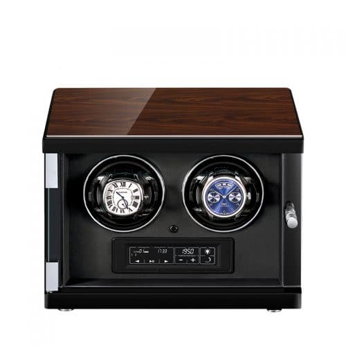 Classic Black 2-Slot Automatic Watch Winder-1