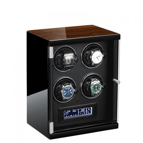 Classic Black 4-Slot Automatic Watch Winder-2
