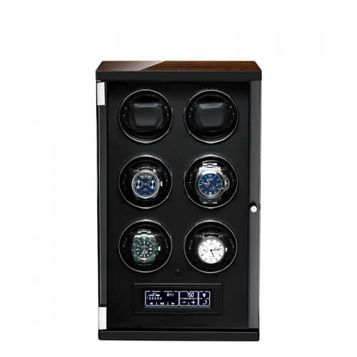 Classic Black 6-Slot Automatic Watch Winder-1