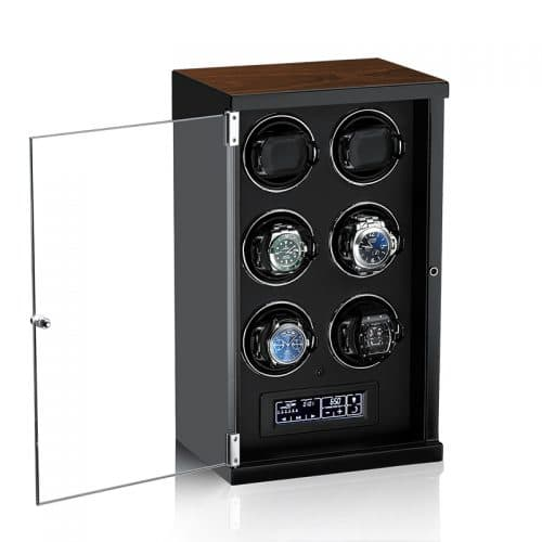 Classic Black 6-Slot Automatic Watch Winder-2