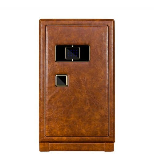 Brown Heavy Duty 12-Slot Automatic Watch Winder Safe-1